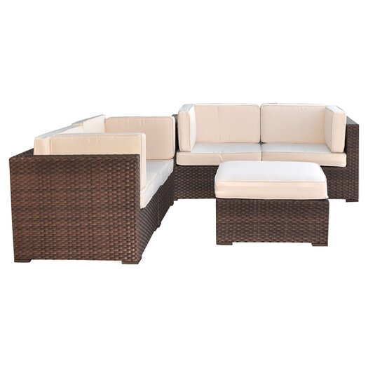 International Home Miami Nice 5 Piece Deep Seating Group with Cushions