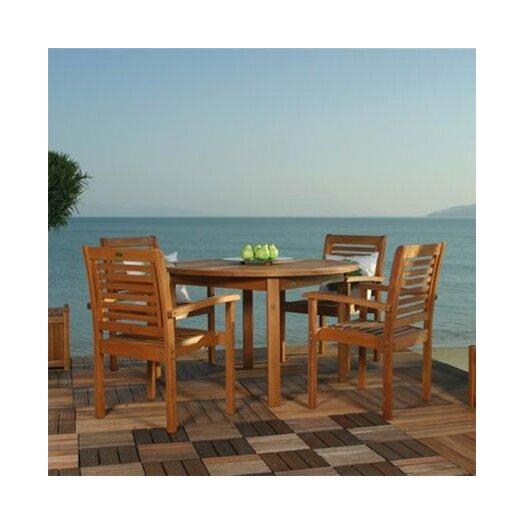 International Home Miami Amazonia Milano 5 Piece Dining Set