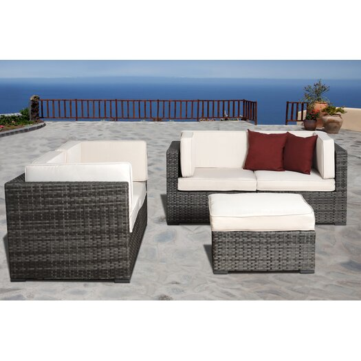 International Home Miami Nice 5 Piece Deep Seating Group with Cushions