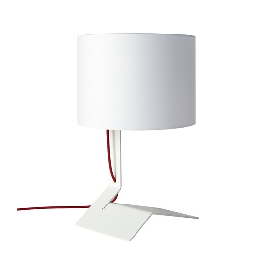 "Blu Dot Bender 19"" H Table Lamp with Drum Shade"