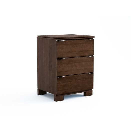 College Woodwork Grandview 3 Drawer Nightstand