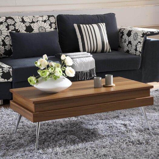 Matrix Koryo Wood Veneer Finish Lift Top Rectangular Coffee Table