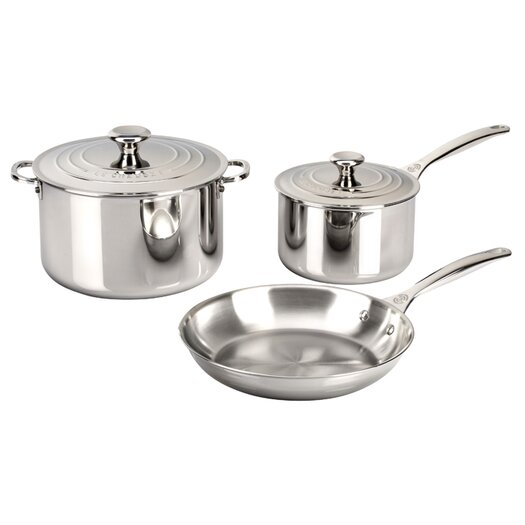 Le Creuset Stainless Steel 5 Piece Cookware Set II