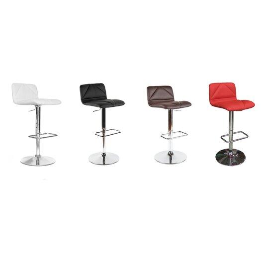 Whiteline Imports Vivo Adjustable Height Bar Stool with Cushion