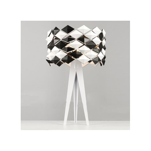 "Whiteline Imports Alina 23"" H Table Lamp with Drum Shade"