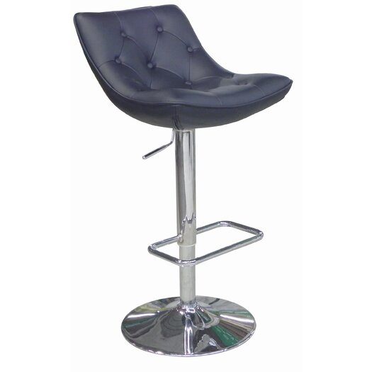Whiteline Imports Cindy Adjustable Height Bar Stool with Cushion