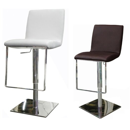 Whiteline Imports Gia Adjustable Height Bar Stool with Cushion