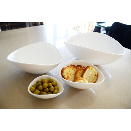 Tannex White Tie Wave 4 Piece Serving Bowl Set