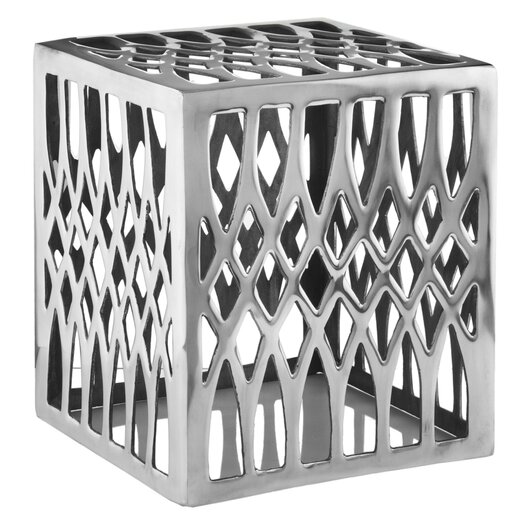 Modern Day Accents Aluminum Basilica Stool