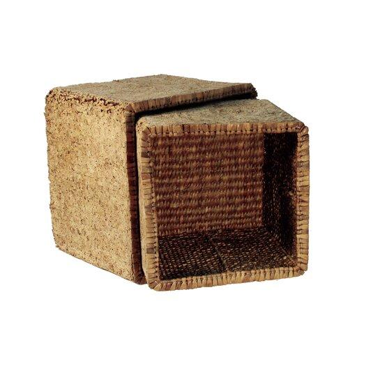 Ibolili Knotted Waterhyacinth Cubical Basket