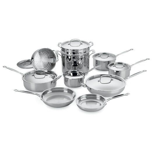 Cuisinart Chef's Classic Stainless Steel 17 Piece Cookware Set