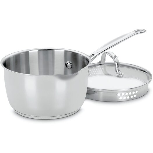 Cuisinart Chef's Classic Stainless Steel 2-qt. Saucepan with Lid