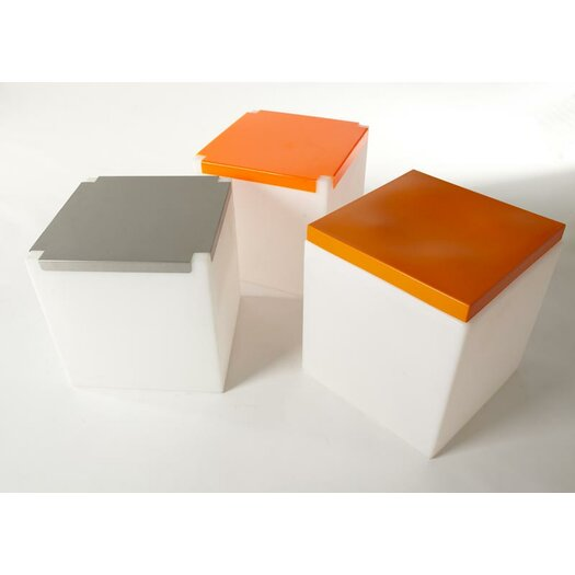 Slide Design Soft Cube Lighted Stool with Cusion