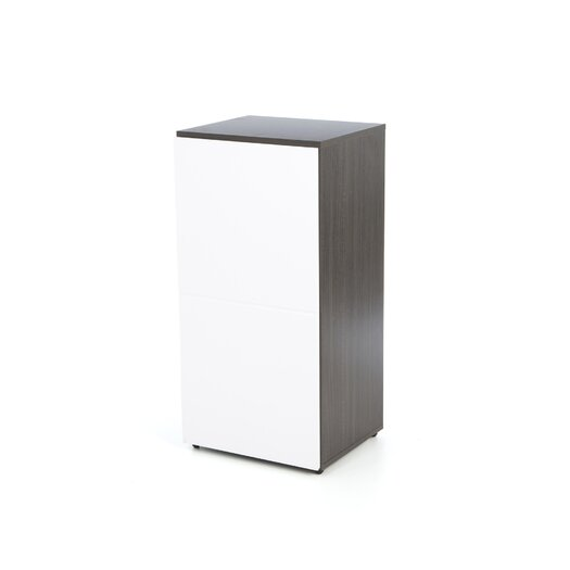 "Nexera Allure 36"" Storage Cabinet in White and Ebony with 1 Door"