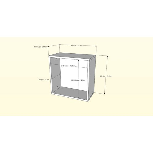 Nexera BLVD Decorative Wall Cube