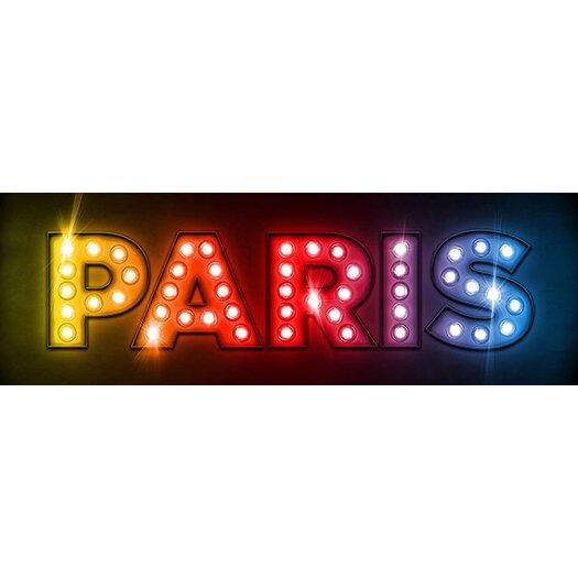 iCanvas 'Paris by Michael Tompsett Textual Art on Canvas
