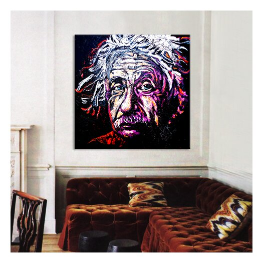 iCanvas New Einstein 002 Canvas Wall Art by Rock Demarco