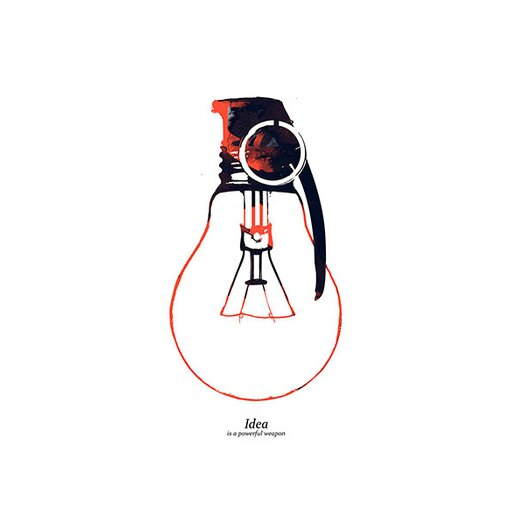 iCanvas 'Idea Is a Powerful Weapon' by Budi Satria Kwan Graphic Art on Canvas
