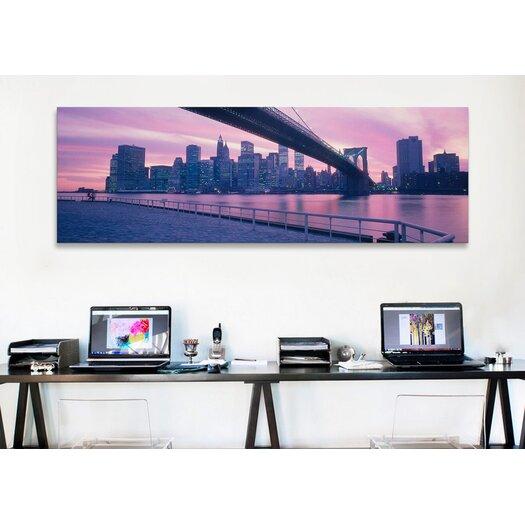 iCanvas Panoramic Brooklyn Bridge New York Photographic Print on Canvas