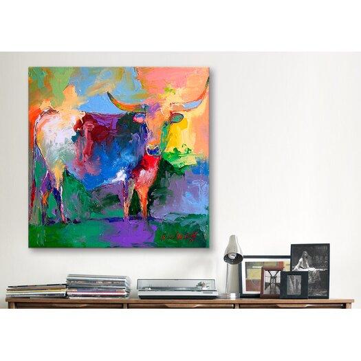 "iCanvasArt ""Bull"" Canvas Wall Art By Richard Wallich"