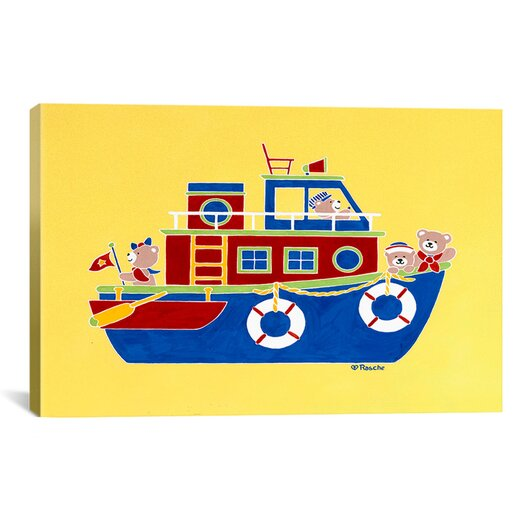 "iCanvas Shelly Rasche ""Boating Bears"" Canvas Wall Art"