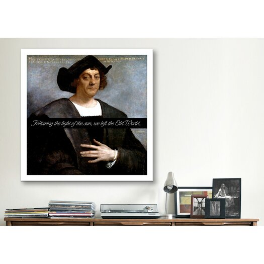 iCanvas Christopher Columbus Quote Canvas Wall Art