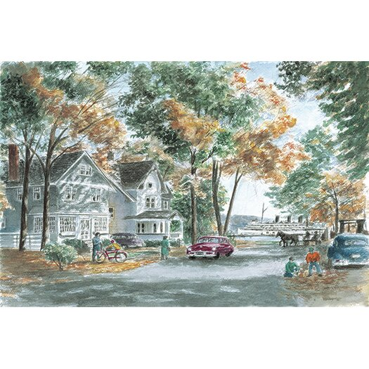 iCanvas 'Autumn on Gwenn Dr' by Stanton Manolakas Painting Print on Canvas