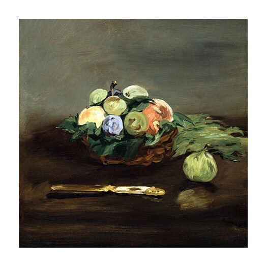 """iCanvas """"Basket of Fruit"""" Canvas Wall Art by Edouard Manet"""
