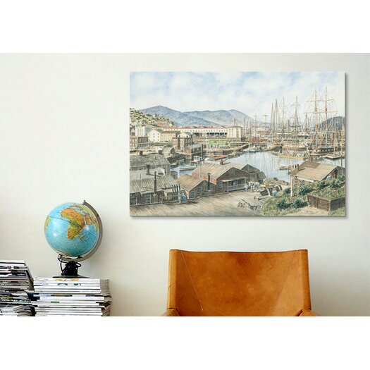 iCanvas 'Yerba Buena Cove, San Francisco' by Stanton Manolakas Painting Print on Canvas