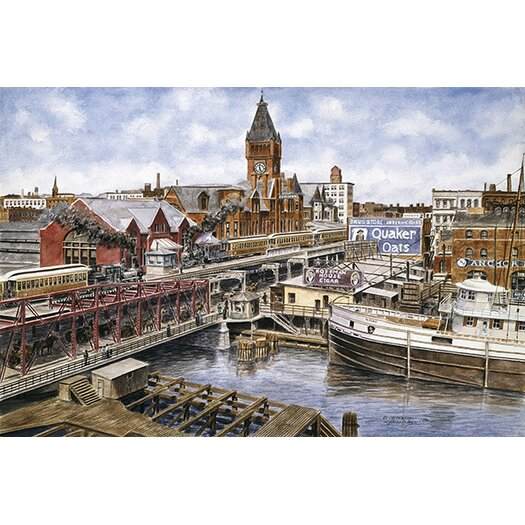 iCanvas 'Chicago: Elevated RR, Ca 1896' by Stanton Manolakas Painting Print on Canvas