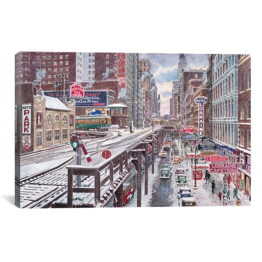 iCanvasArt 'Chicago, the Loop' by Stanton Manolakas Painting Print on Canvas