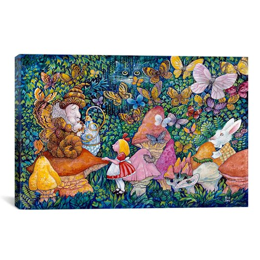 "iCanvas Decorative Art ""Alice And The Caterpiller"" Canvas Wall Art"
