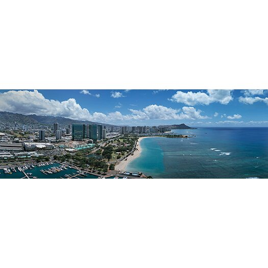 iCanvasArt Panoramic Buildings in a City, Honolulu, Oahu, Hawaii 2007 Photographic Print on Canvas