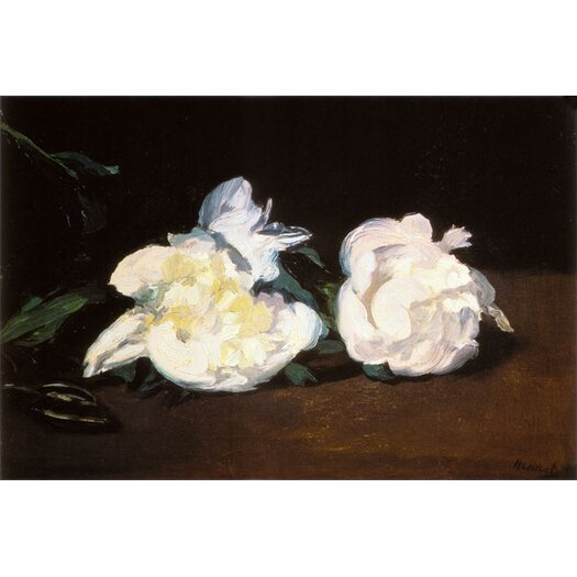 iCanvas 'Branch of White Peonies and Secateurs' by Edouard Manet Painting Print on Canvas
