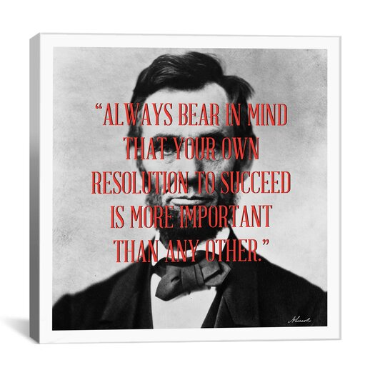 iCanvas Abraham Lincoln Quote Canvas Wall Art