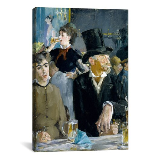 iCanvas 'At the Café' by Edouard Manet Painting Print on Canvas
