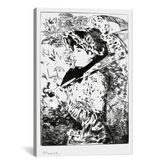 iCanvas 'Jeanne (Spring)' by Edouard Manet Painting Print on Canvas