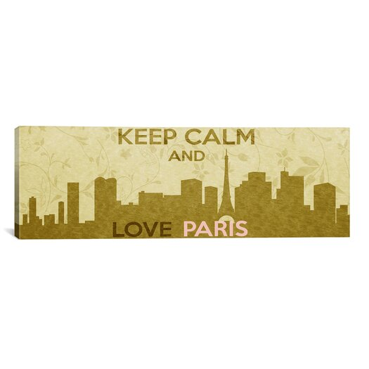 iCanvas Keep Calm and Love Paris Textual Art on Canvas