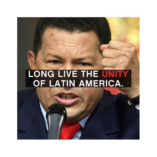 iCanvas Hugo Chavez Quote Canvas Wall Art