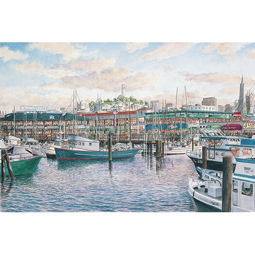 iCanvas 'Fisherman'S Wharf Sunset'  by Stanton Manolakas Painting Print on Canvas