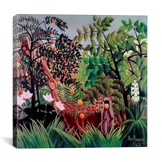 """iCanvas """"Exotic Landscape, 1910"""" Canvas Wall Art by Henri Rousseau"""