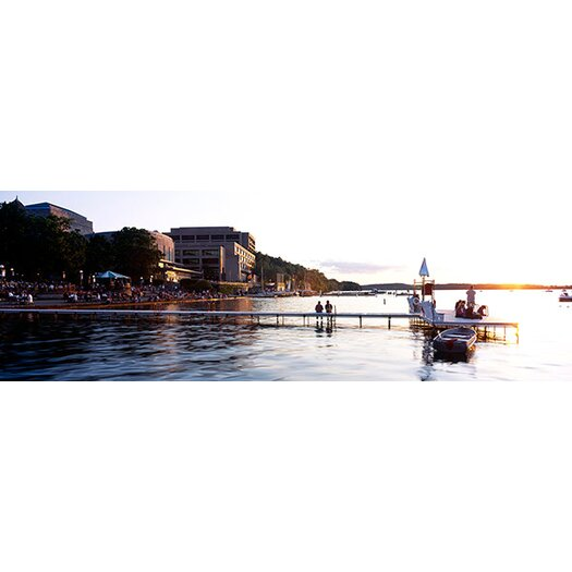 iCanvas Panoramic Lake Mendota, University of Wisconsin, Madison, Wisconsin Photographic Print on Canvas