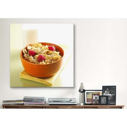 iCanvasArt Cornflakes Cereal Photographic Canvas Wall Art