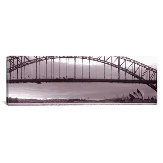 iCanvas Panoramic Harbor Bridge, Pacific Ocean, Sydney, Australia Photographic Print on Canvas