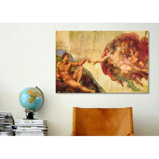 iCanvas 'Creation of Adam' by Michelangelo Painting Print on Canvas