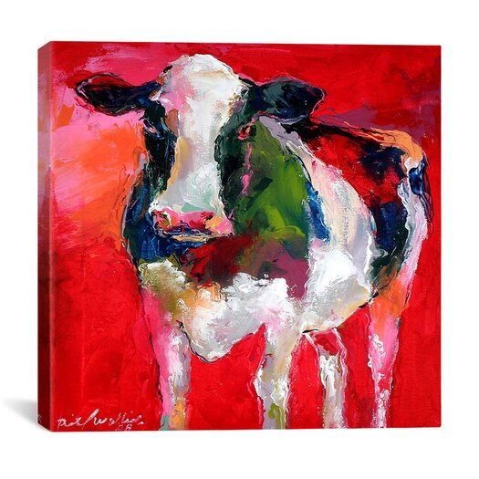 "iCanvasArt ""Cow"" Canvas Wall Art by Richard Wallich"