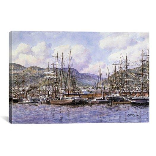 iCanvas 'Honolulu Harbor, California, 1898' by Stanton Manolakas Painting Print on Canvas