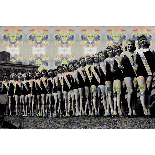 iCanvas Miss America Competition 1943 Lineup Panoramic Memorabilia on Canvas