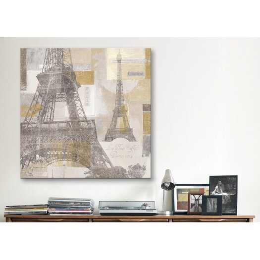 iCanvas Eiffel Tower III Canvas Wall Art by Pela and Silverman