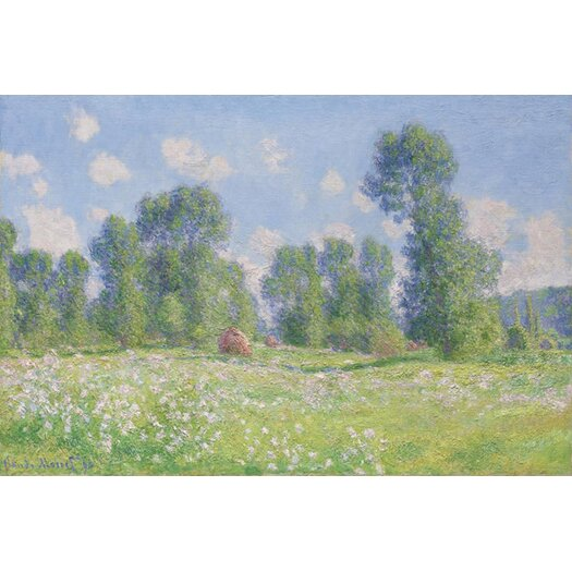 iCanvas Effet De Printemps a Giverny 1890 by Claude Monet Painting Print on Canvas